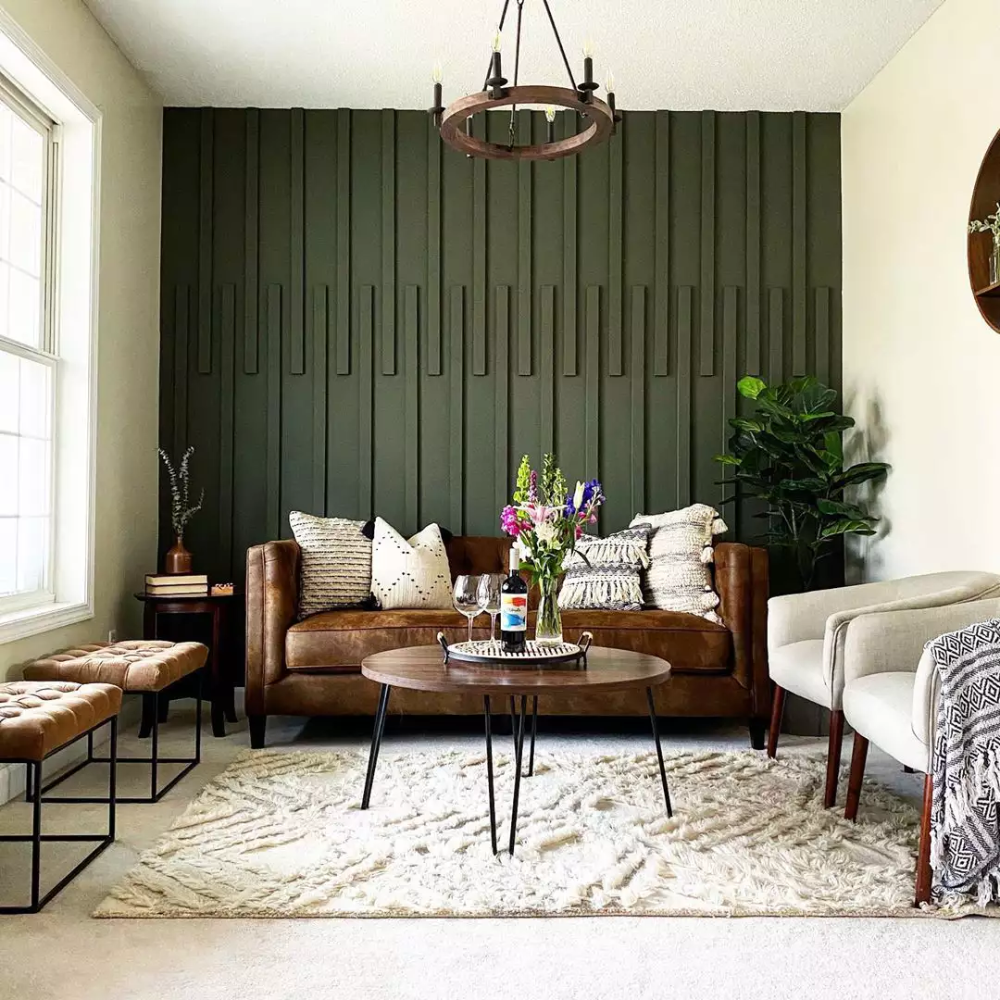 accent walls for every style of living room in 2020