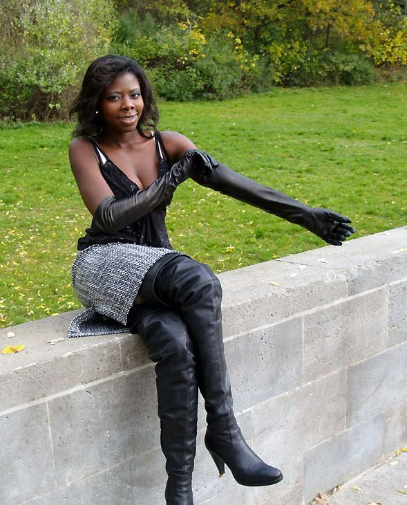 Ebony babes in boots