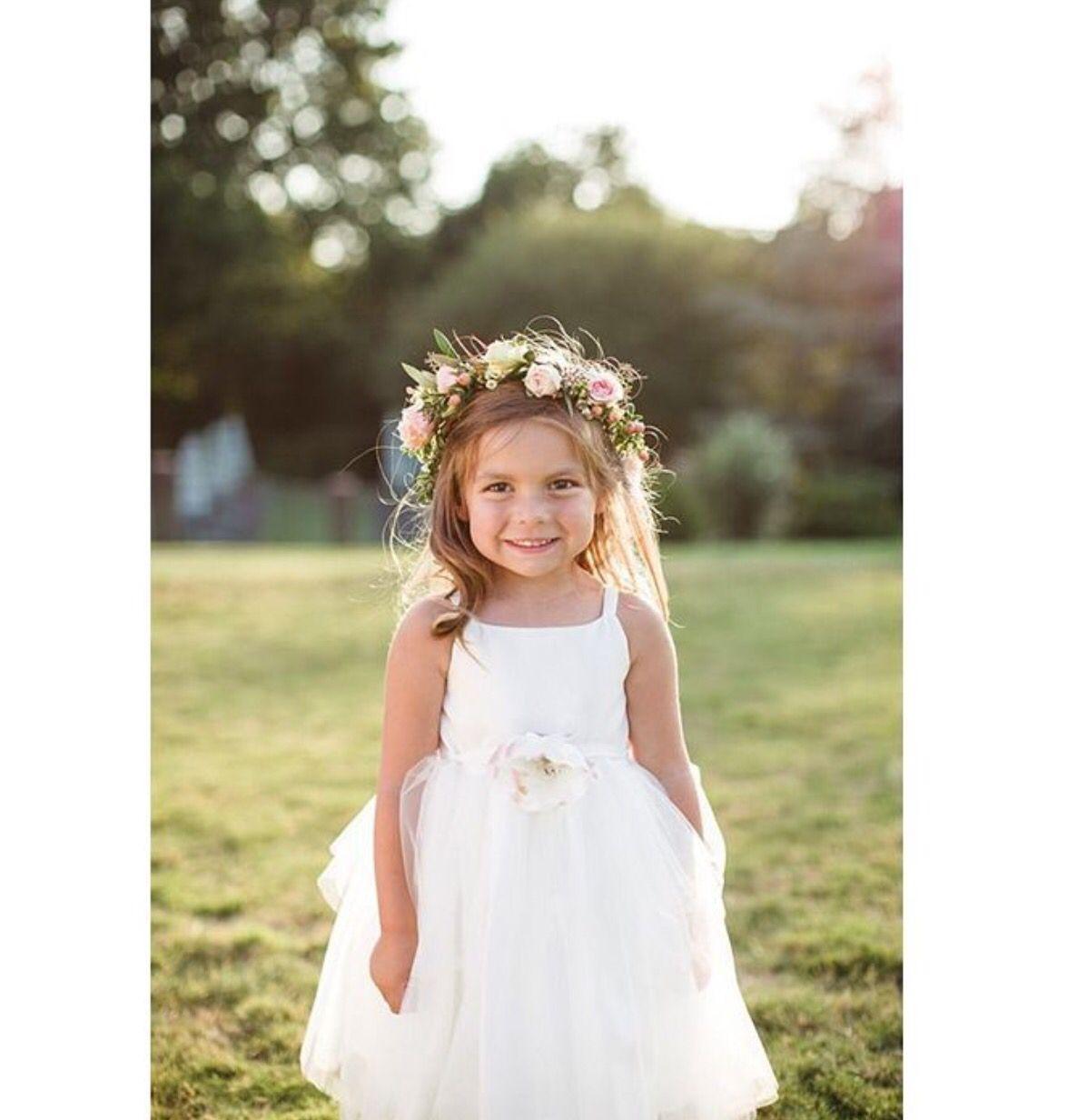 Girls wedding dress  Flower girl  Flower Girl  Pinterest