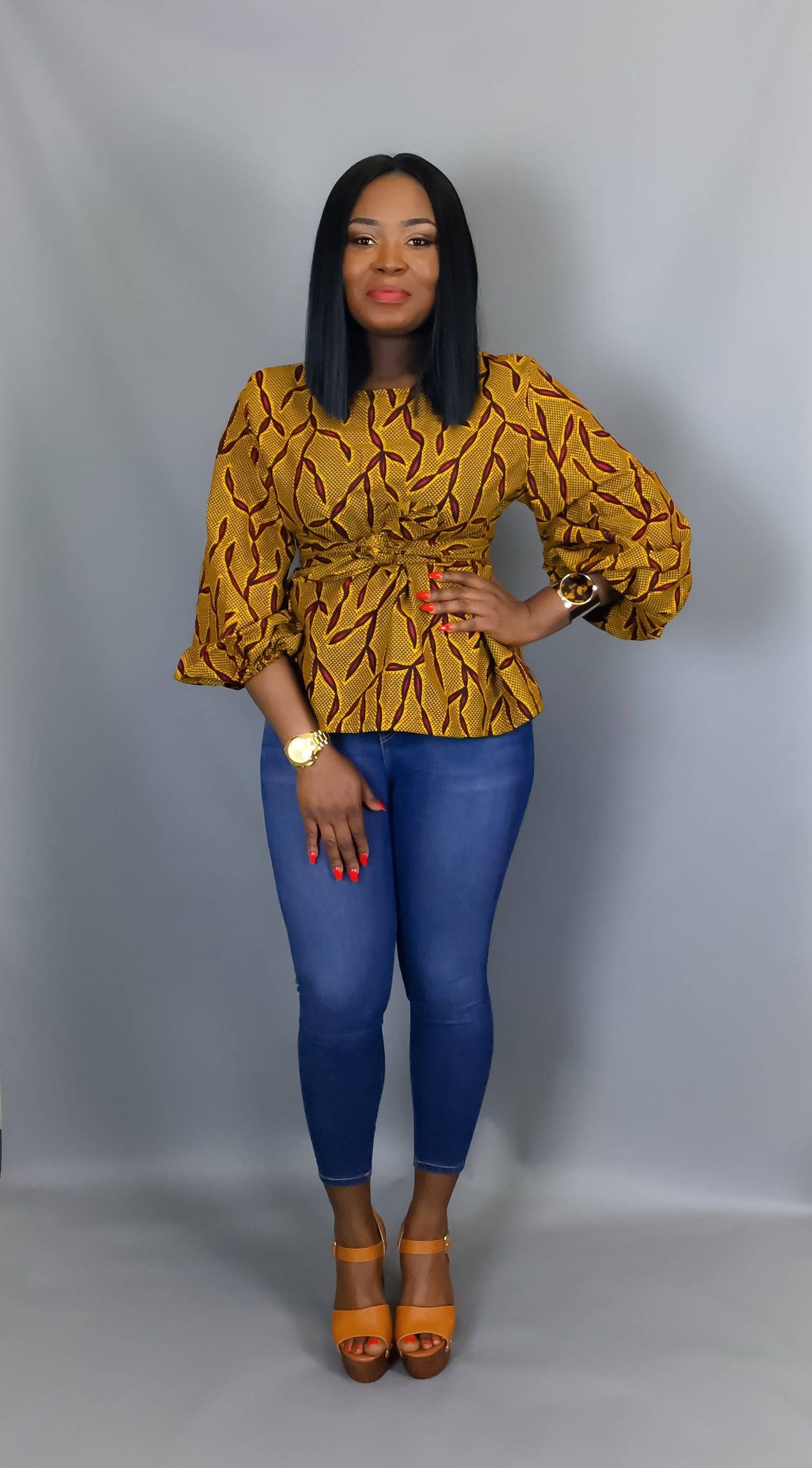 tissu africain haut