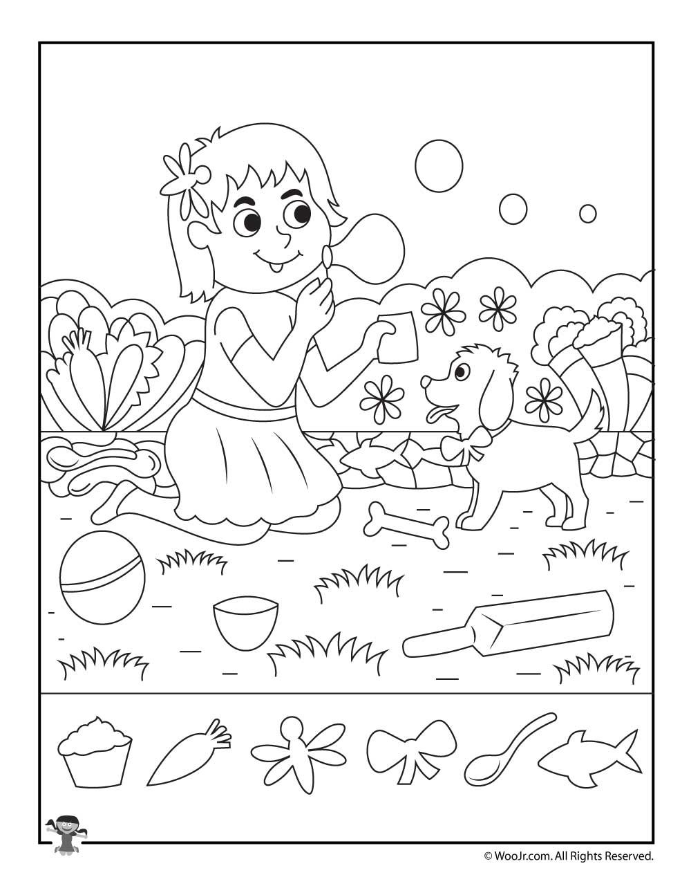 In The Park Hidden Picture Printable Woo Jr Kids Activities Hidden Pictures Hidden Pictures Printables Hidden Picture Puzzles [ 1294 x 1000 Pixel ]