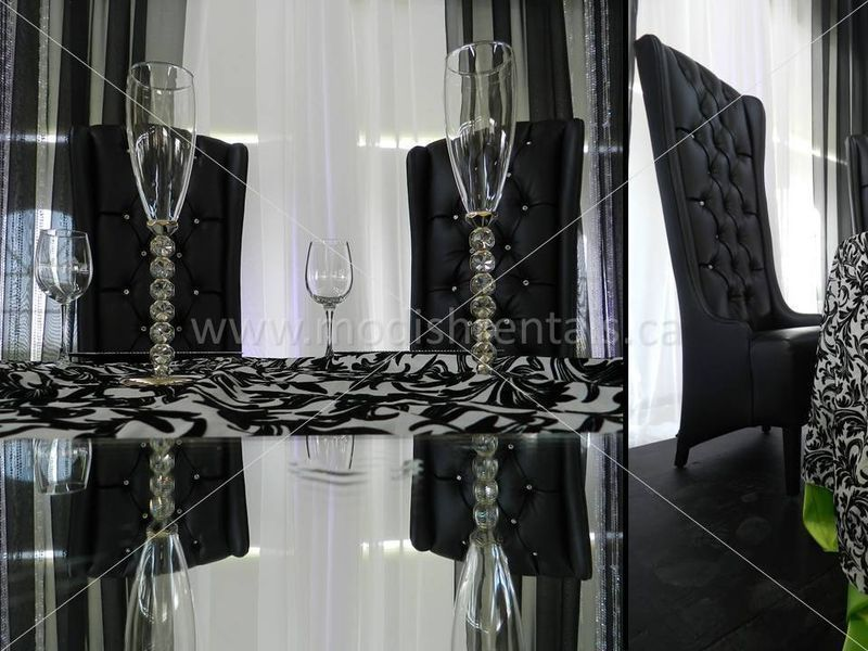 Chair Cover Rentals Windsor Ontario Posture Perfect Black Swarovski Crystal Throne Chairs By Modish Lounge In