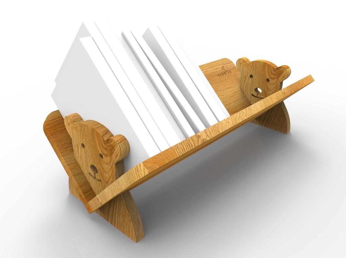 children's baby bear bookshelf on behance | creative