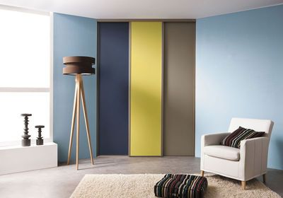 Placard Mural Bons Exemples De Portes Coulissantes Battantes - Porte placard coulissante sur mesure