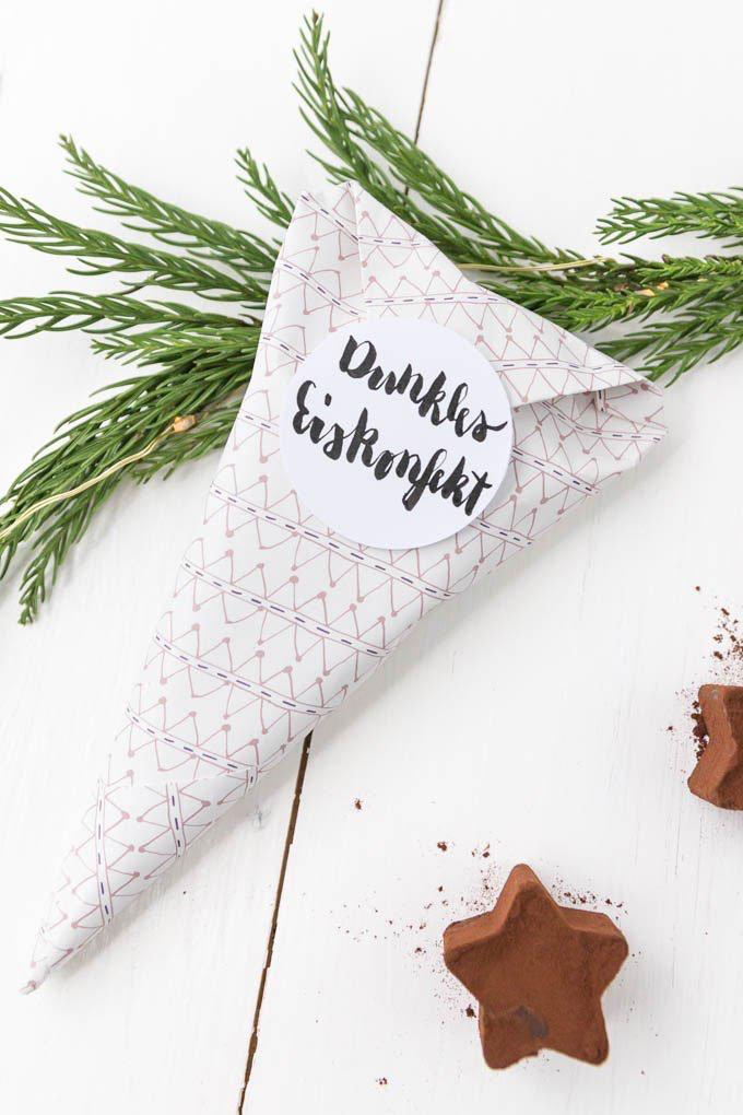 Eiskonfekt selber machen | last-minute DIY Geschenk zu Weihnachten