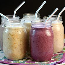 MMake-Ahead Oatmeal Smoothies. Healthy & delicious with grab-and-go convenience; 6 varieties, plus how to invent your own. Freezable, too!