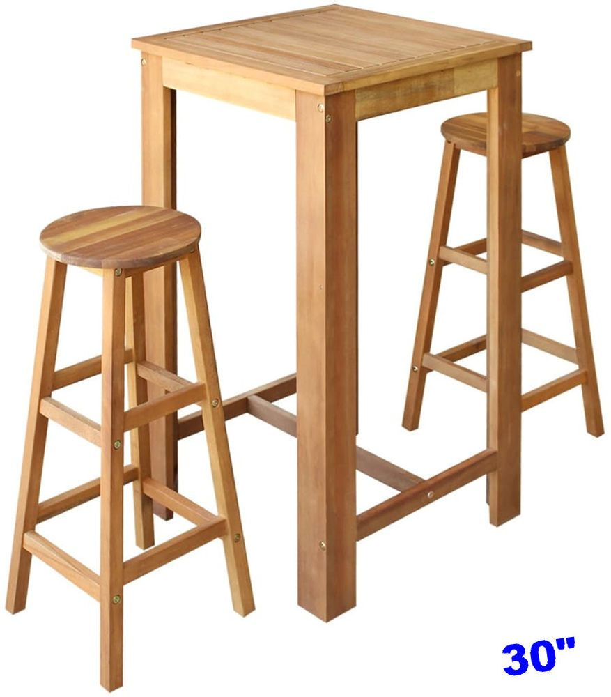 Bistro Set Bar Table 2 High Stools