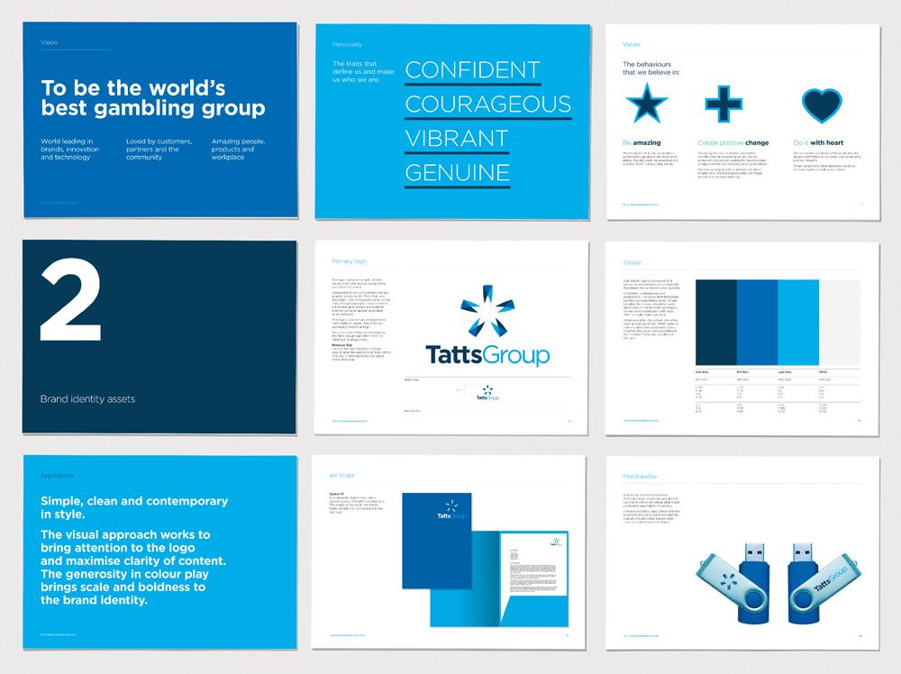 New Logo And Identity For Tatts Group By Hulsbosch Cl Includes Brand Pillars And Mission Statement Like Th Brand Book Brand Identity Guidelines Brand Manual
