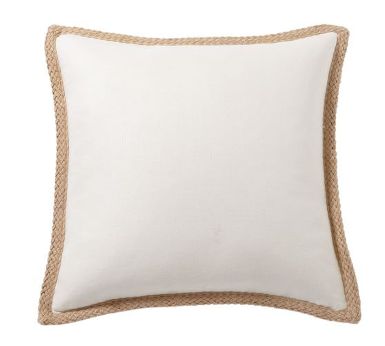 Jute Braid Pillow Cover With Images Pillow Covers