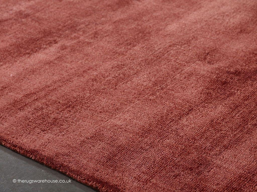 Erased Red Rug Texture Close Up A Luxurious Plain Handmade 100 Viscose