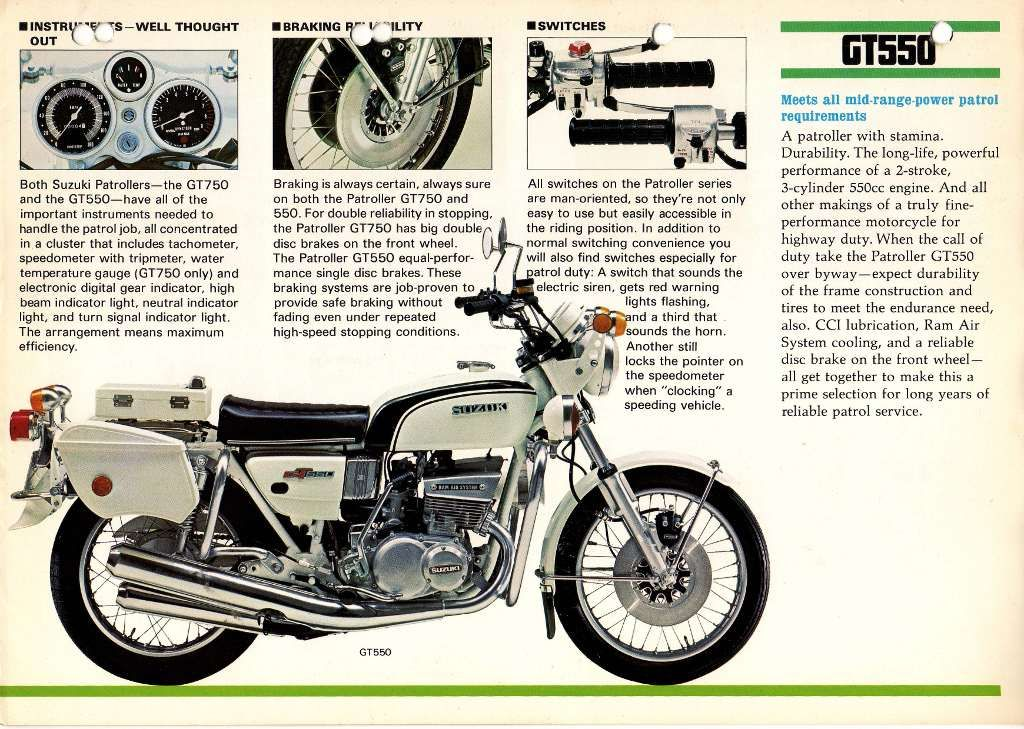 Suzuki GT550 Patroller | two stroke | Suzuki motorcycle