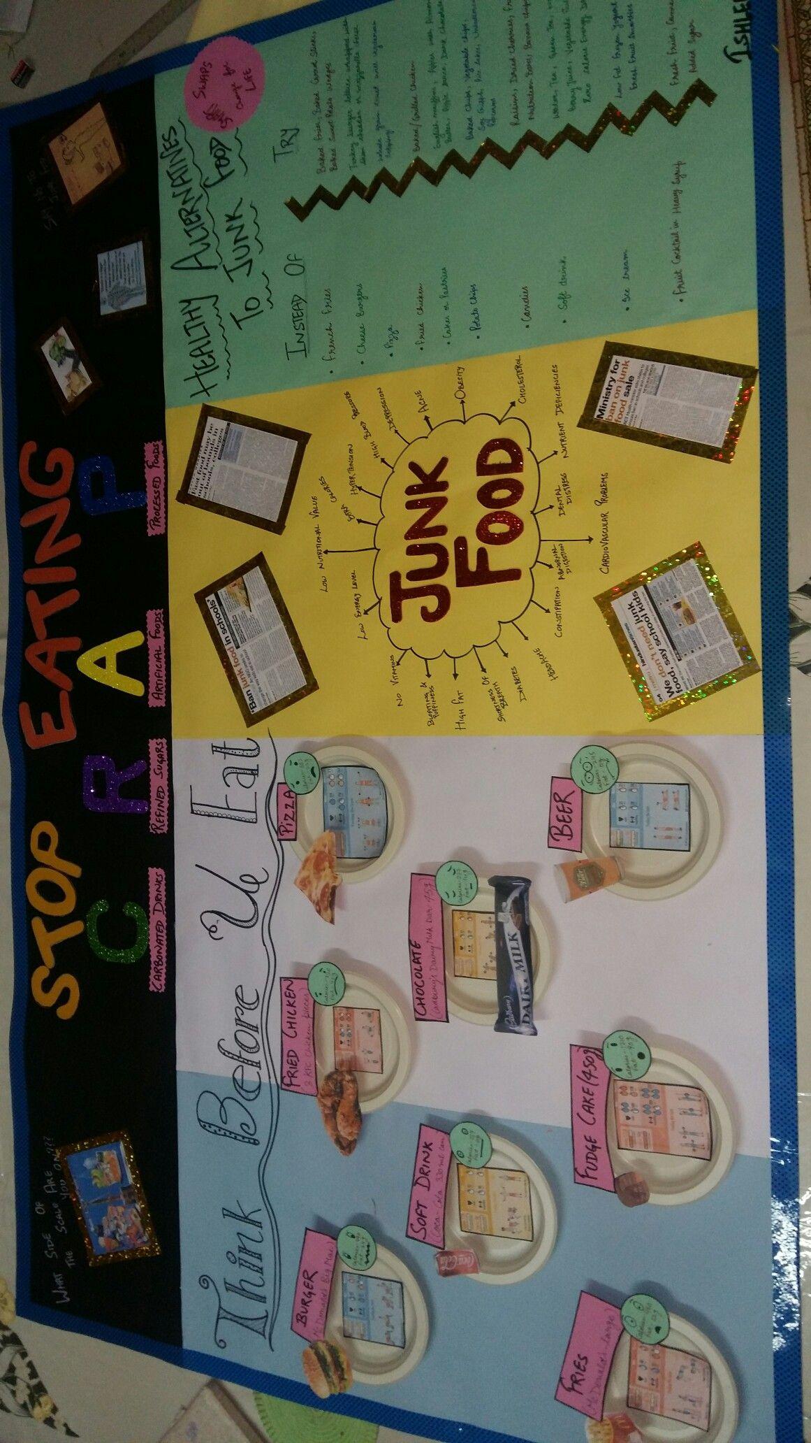 Poster on avoid junk food | nutrition | Junk food, Food