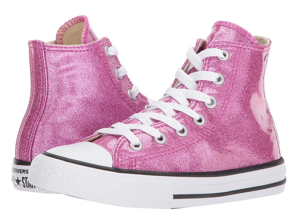 Converse Kids Chuck Taylor All Star Hi (Little Kid Big Kid) Girl s Shoes  Bright Violet Natural White 529ec6fae