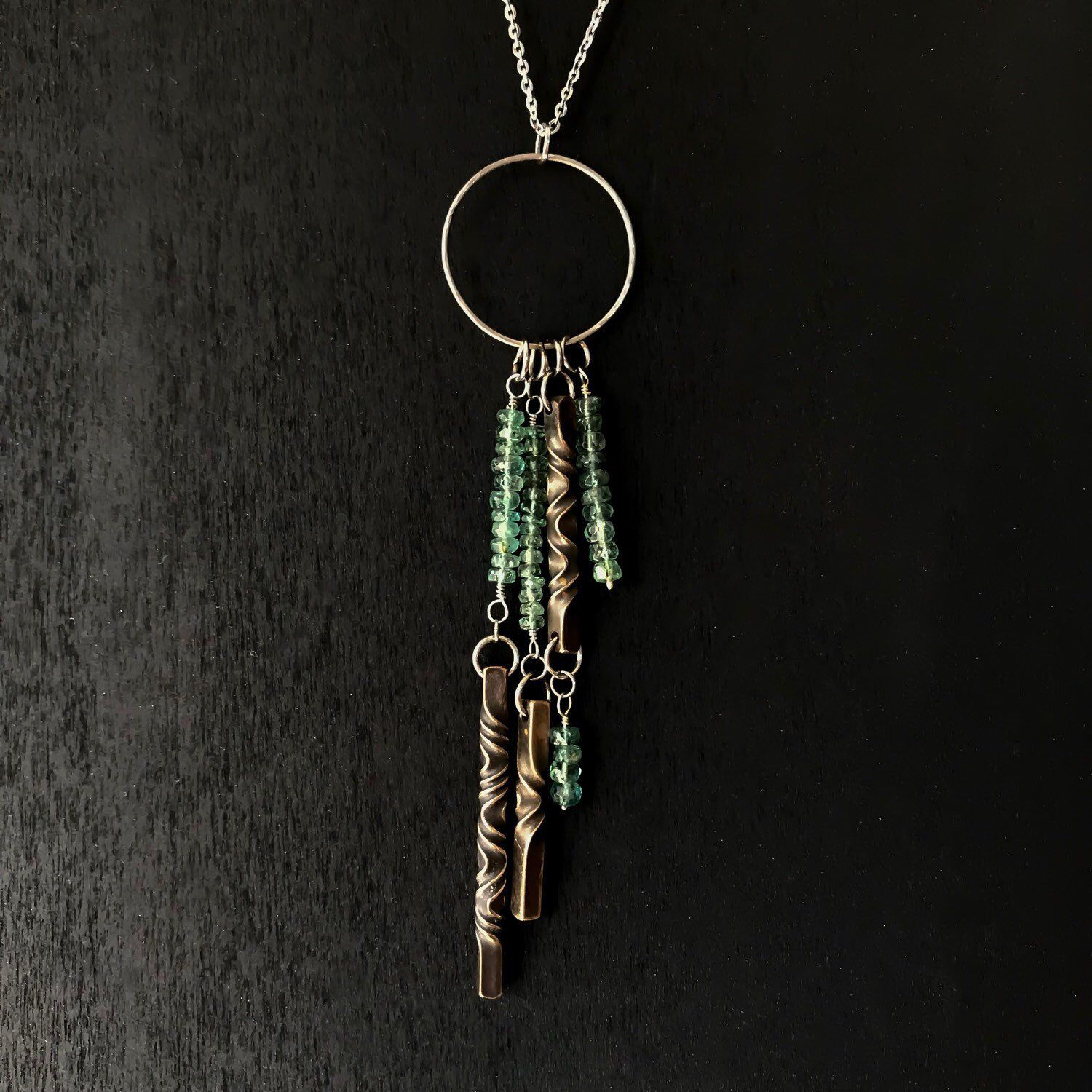8th anniversary gift for wife Bronze and tourmaline