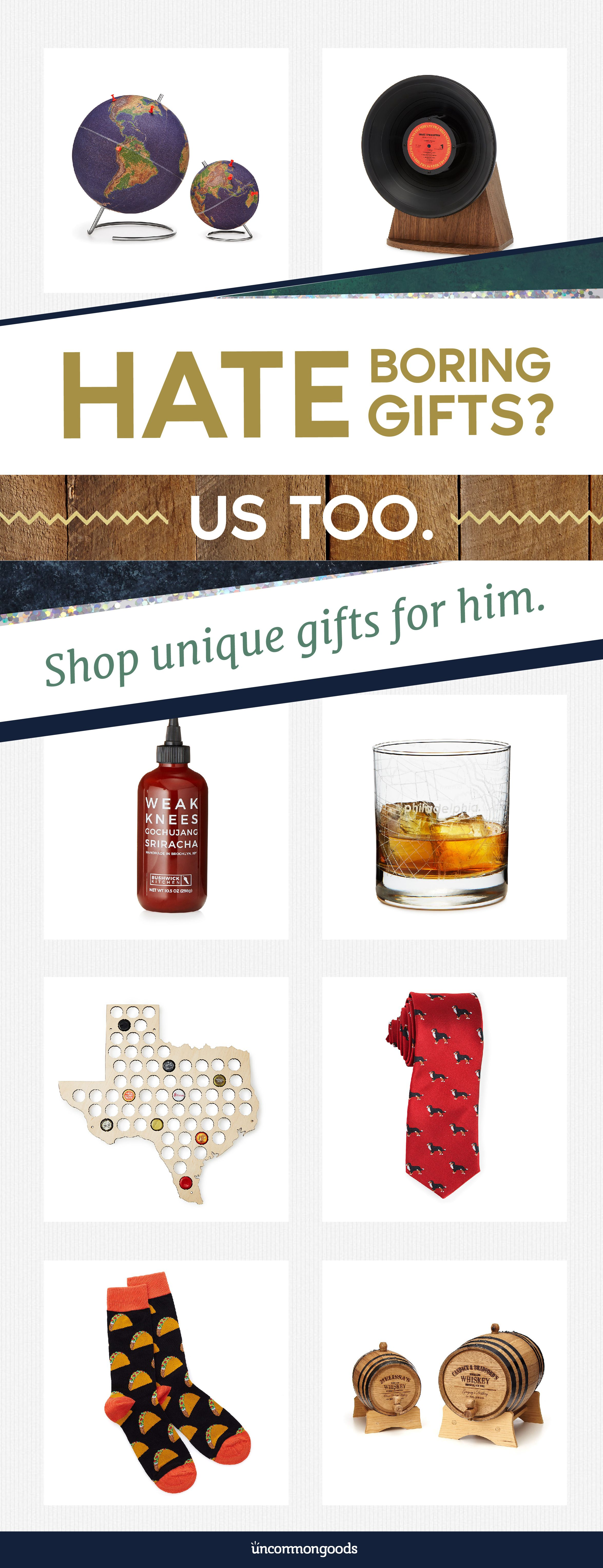 Discover Unique Gifts That Any Guy In Your Life Will Love Find