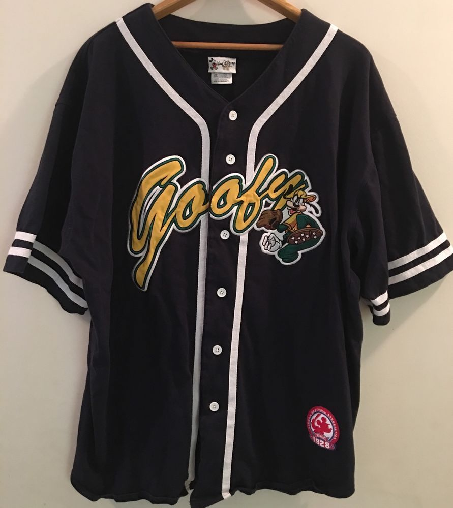 Vintage Disney World Goofy Sewn Men S Baseball Jersey Shirt Size Xxl Cotton Waltdisneyworld Buttonfr Baseball Jersey Shirt Baseball Jersey Men Shirt Size