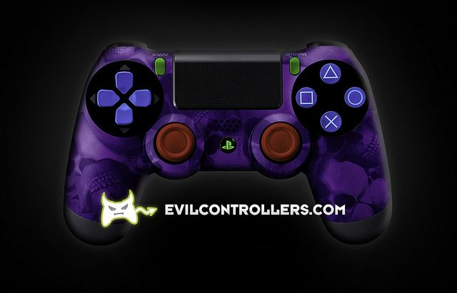 PS4Controller-PurpleSkullz | Flickr - Photo Sharing! #PlayStation4Controller #CustomController #customPS4Controller #DualShock4