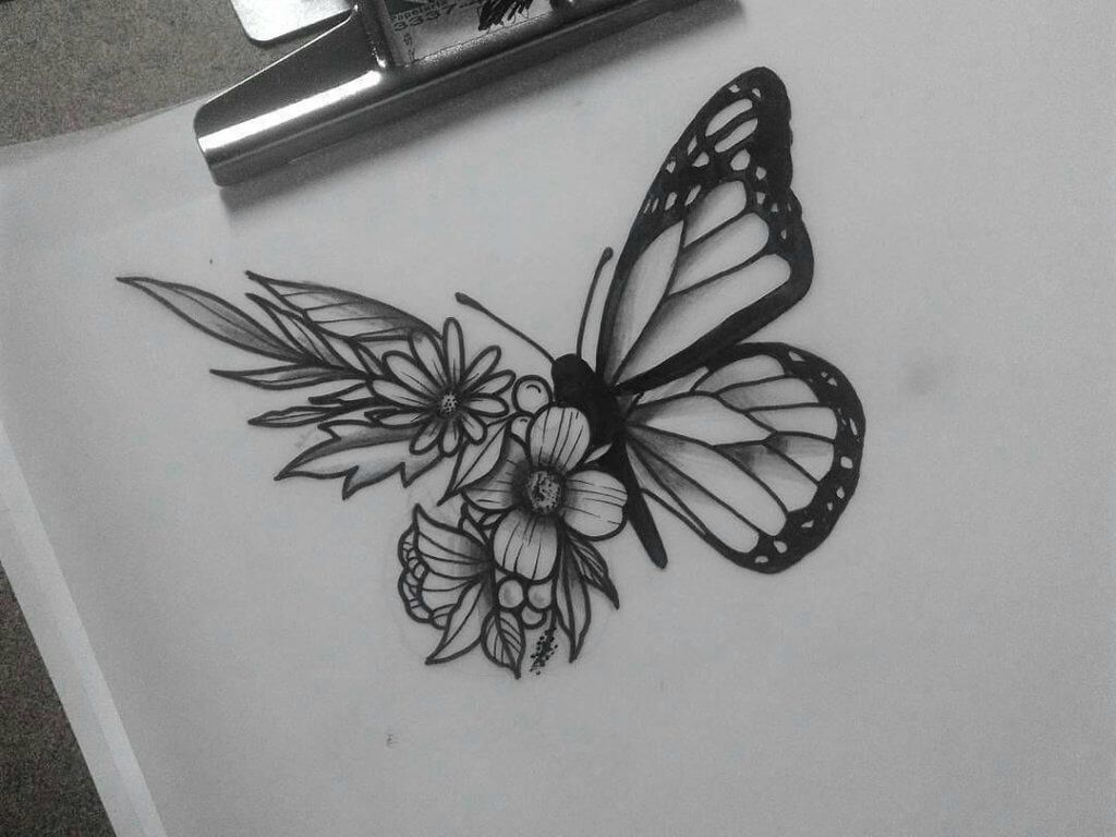 Butterfly Tattoos Tattoos Butterfly Tattoo Butterfly With Flowers Tattoo