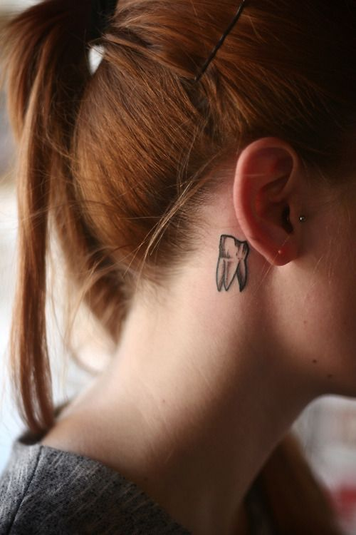 Tiny Tooth Tattoo #cute