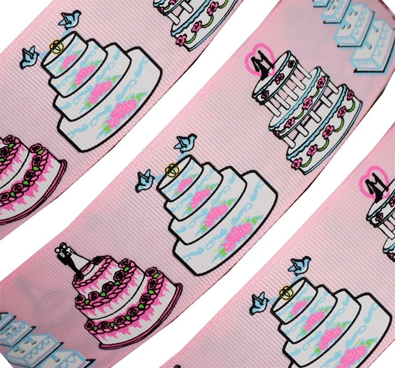 "Wedding cakes 1.5"" grosgrain ribbon!"