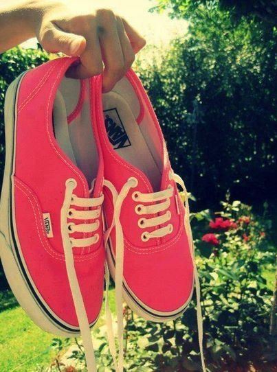 Vans with shorts in the summertime :)
