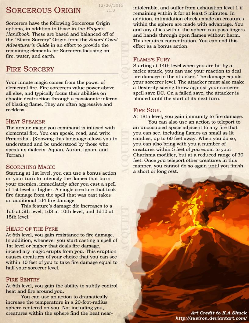 Sorcerer Elemental Origins By Atomicacid D D Dungeons And Dragons Dungeons And Dragons Dnd Sorcerer