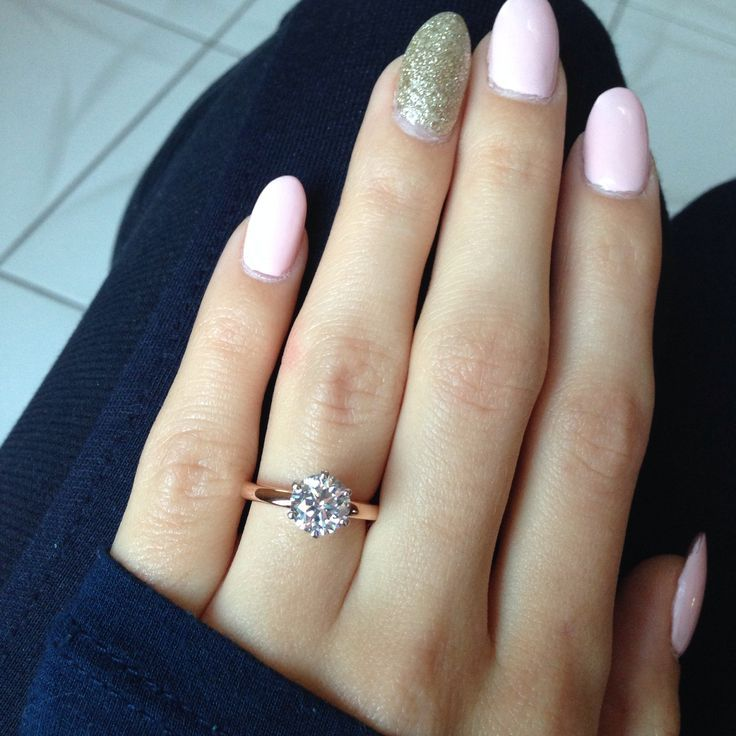 1.5 carat solitaire with rose gold band with oval ...