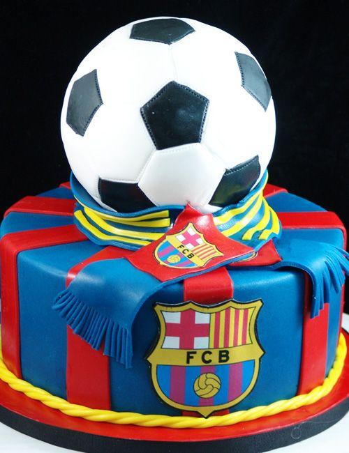 Barcelona Soccer Cake Tortas De Cumpleanos De Futbol Tortas Deportivas Pastel Del Barcelona