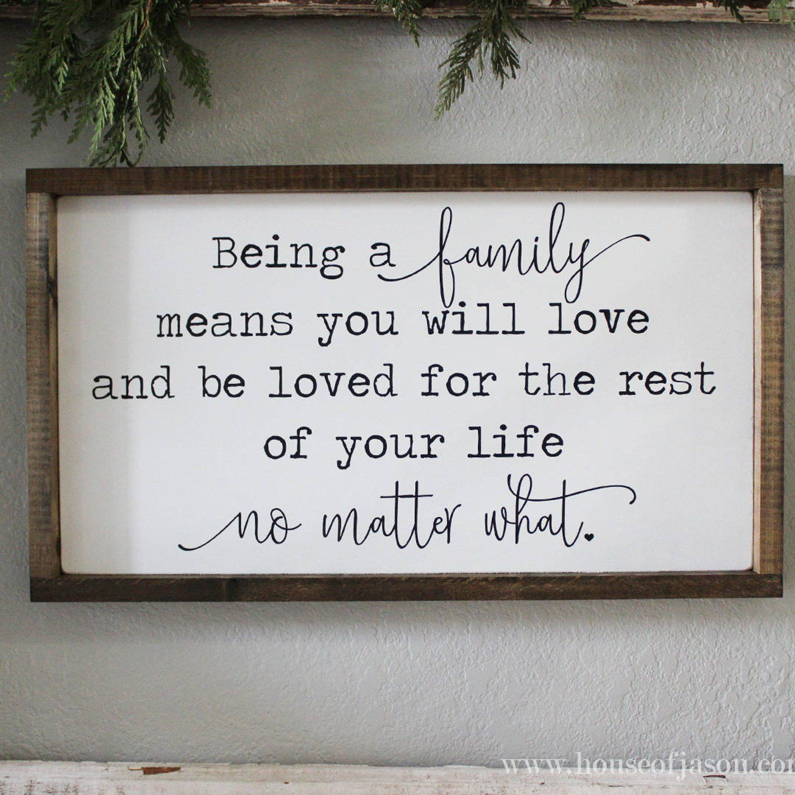 Family Wood Sign Grey Black And White Home Decor Housewares Family Is Everything Quote 23 00 Via Etsy Family Wood Signs Wood Signs White Home Decor