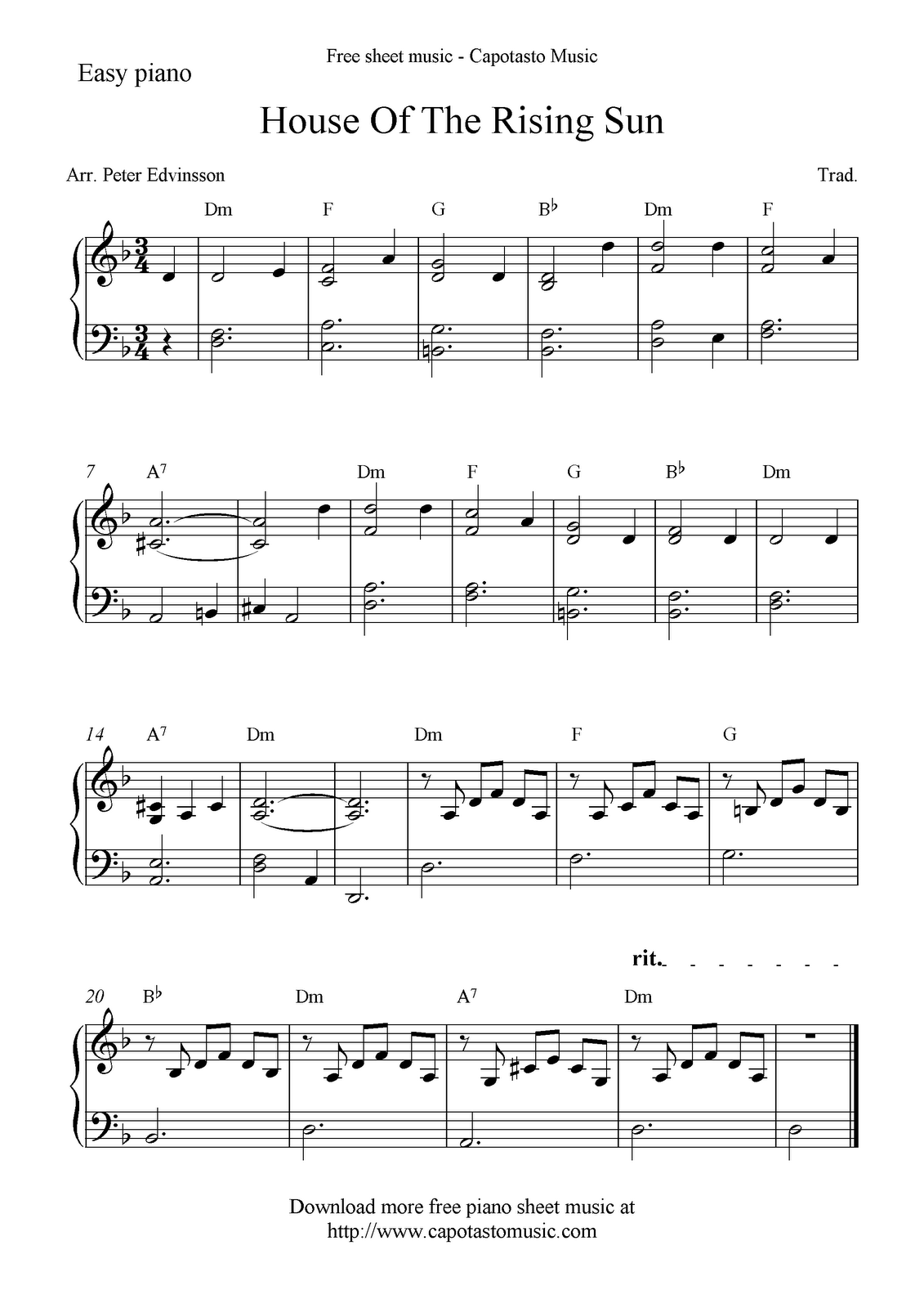 House Of The Rising Sun Cream Piano Sheet Music Free Sheet Music Free Sheet Music,How To Paint Cabinets Without Sanding Them