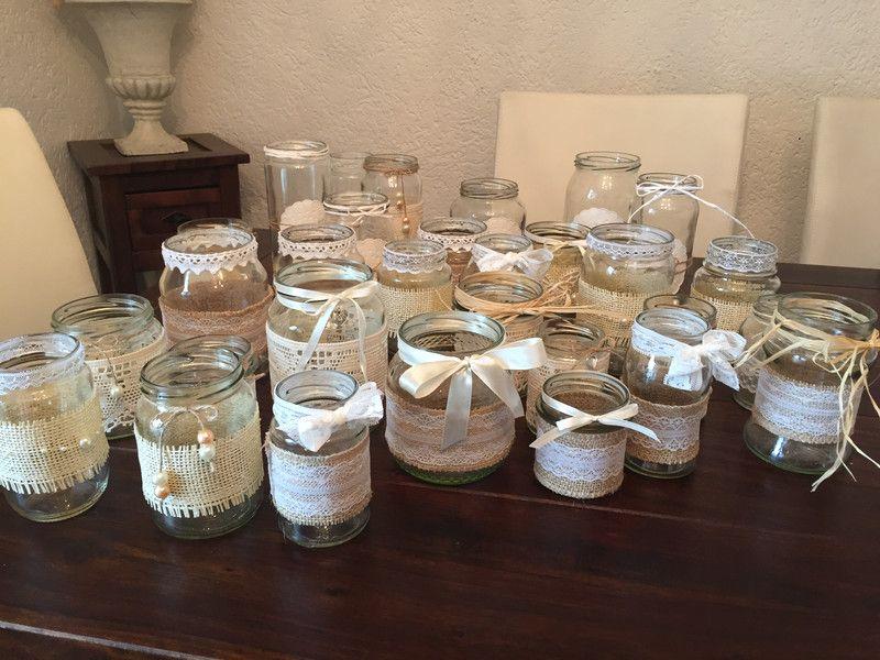 Vintage Dekoset Hochzeit 30 Teilig Vasen Teelicht Decoracao De Casamento Decoracao Casamento
