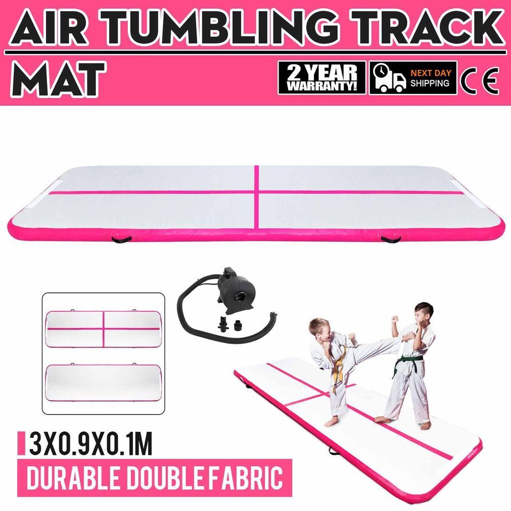 10Ft Air Track Floor Tumbling Inflatable Gym Mat w/Pump