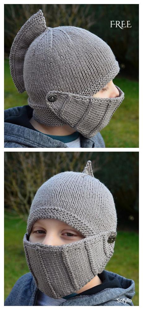 Knit Knight Helmet Free Knitting Patterns - Knitting ...