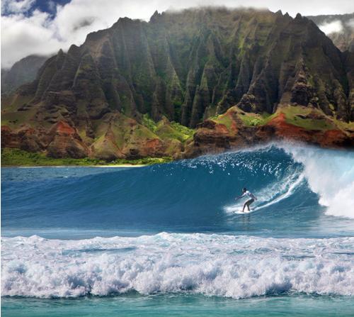 Cruise To Hawaii From California: >Looks Like Kaua`i Off The Na Pali Coast.