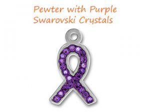 Pewter with Multiple Swarovski Crystal Ribbon  Price: $10.00