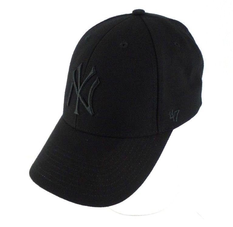 b89dd2543 New York Yankees Black Baseball Cap Hat OSFM Genuine MLB Merchandise  47Brand  MLB  BaseballCap