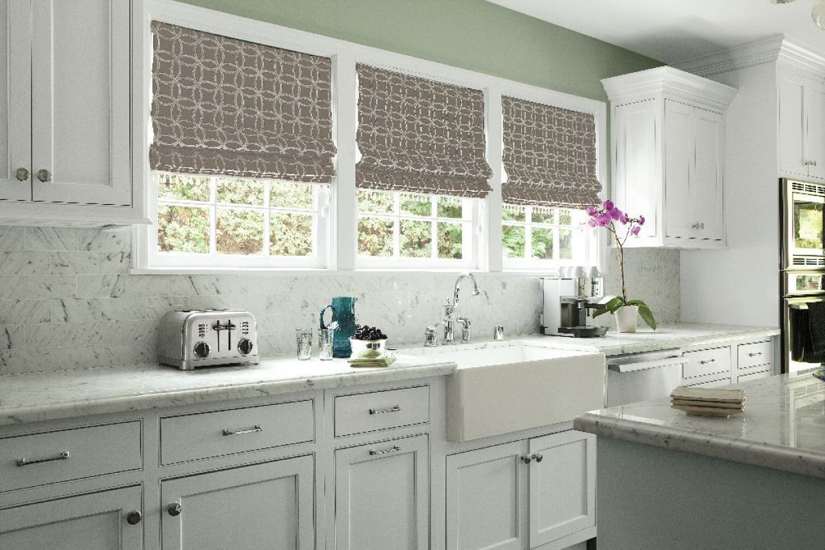 Fabric Shades Shades Smith Noble Roman Shades Kitchen Kitchen Window Blinds Kitchen Window Decor