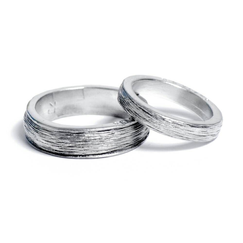 Him and Hers 100 Pure Tin Rings Inscribed with Ten Years Perfect