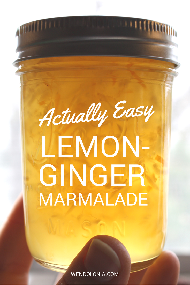 Actually Easy Lemon Ginger Marmalade Ginger Marmalade Recipe, Ginger Jelly Recipe, Ginger Jam,