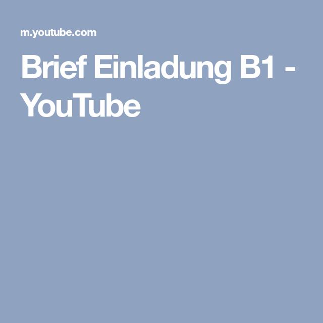 Brief Einladung B1 Youtube German Language Learning German