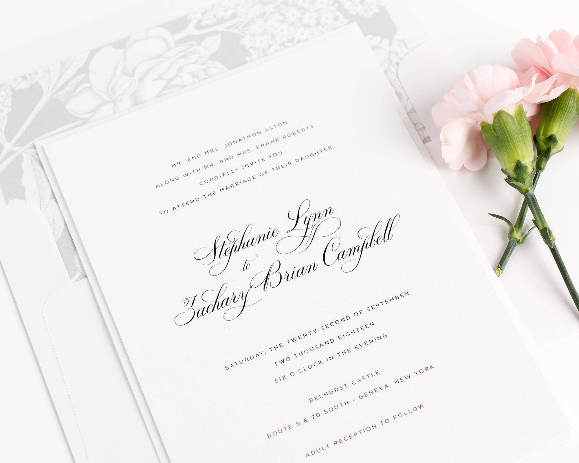 Delicate Elegance Wedding Invitations | Timeless wedding, Belly ...