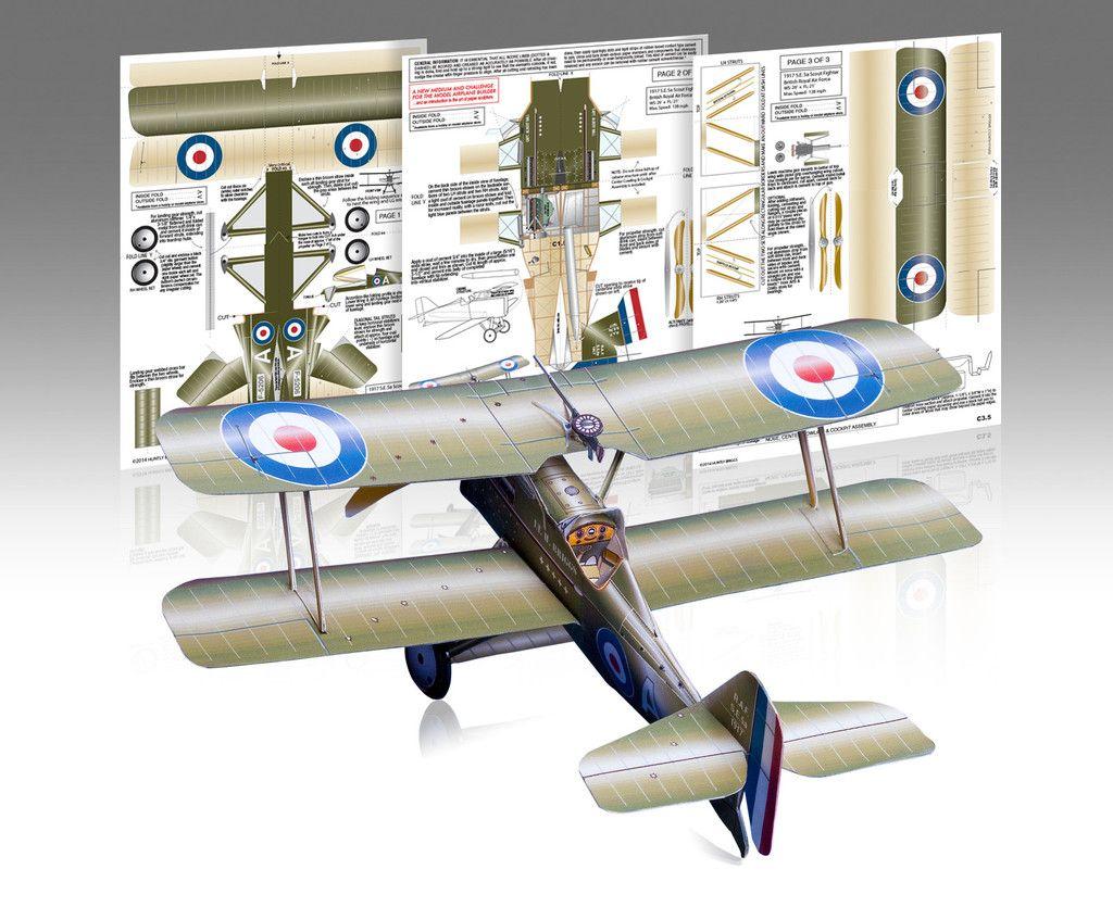 RAF S.E.5a Paper models, Airplane crafts, Paper airplane