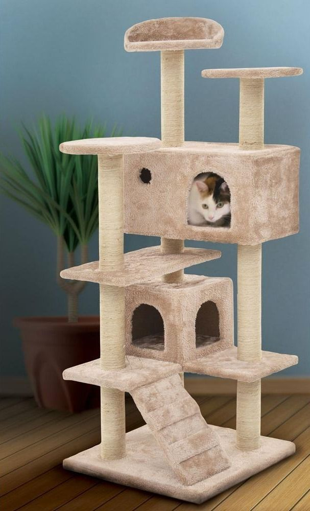 Pet Essentials Tan MultiLevel Cat Tree308621A Cat