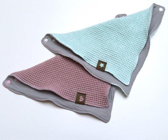 Muslin neckerchief baby child layer look with waffle pique #babykidclothesandideas