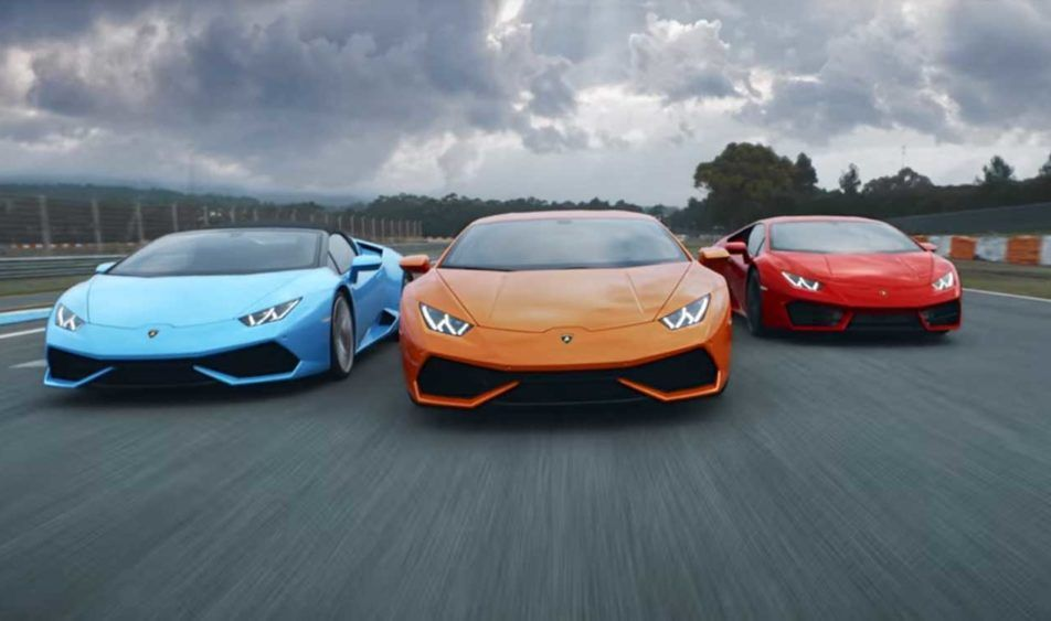 All Three Lamborghini Huracans Meet Up For Epic Video