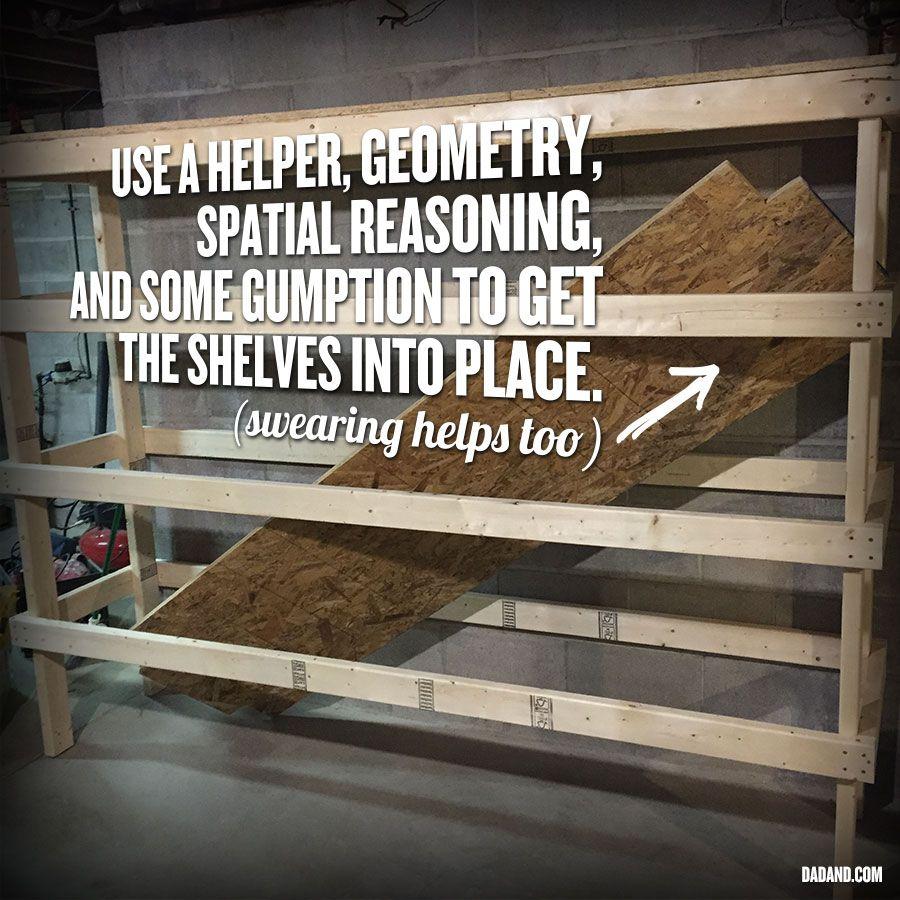 DIY 2x4 Shelving For Garage Or Basement