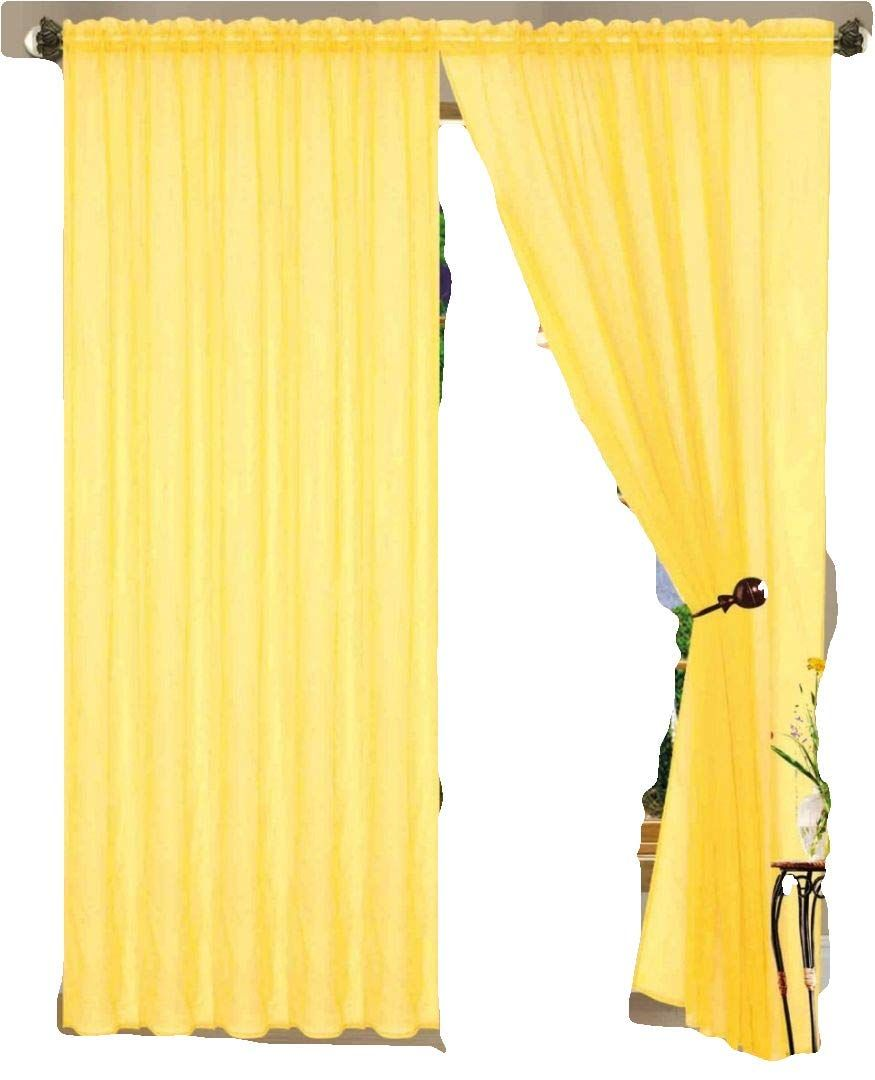 Amazon Com 55 Inch X 84 Inch Sheer Curtains Window Voile Panels