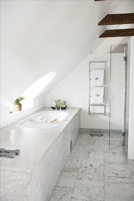 Anette Willemine Bad med marmor Interiors Pinterest - Tv Für Badezimmer