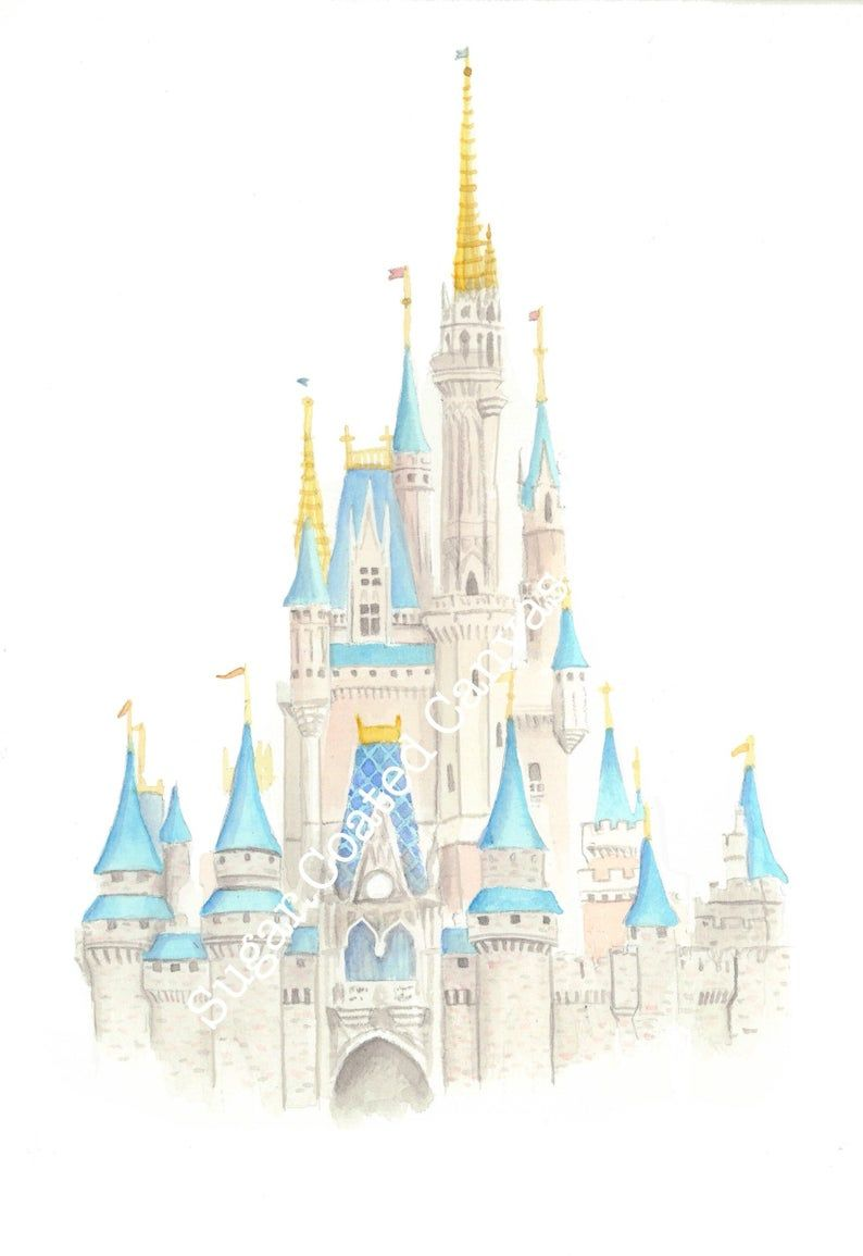 Disneyworld Cinderella S Castle Disneyworld Castle Etsy Disney Art Disney World Castle Disney World
