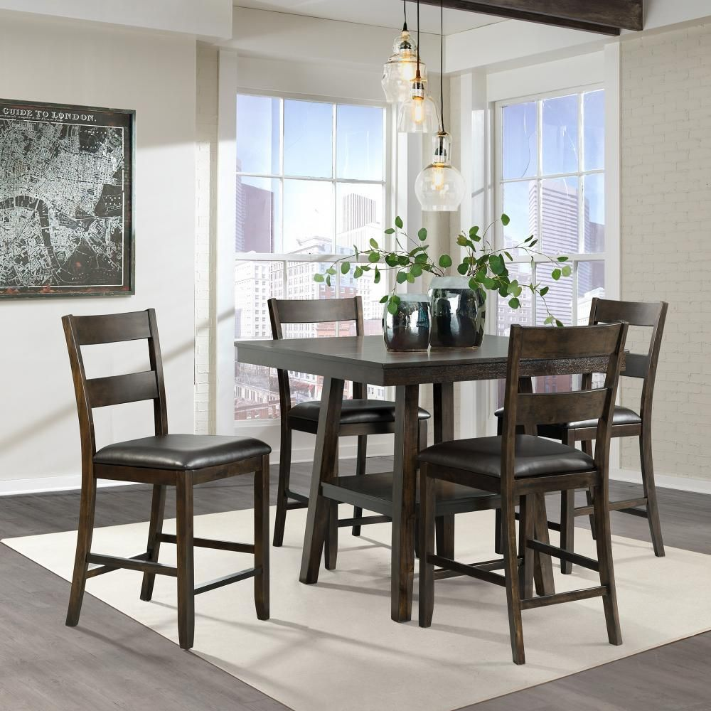 Elements Laredo Counter Height Table 4 Stools Counter Height Dining Sets Small Space Living Dining Table Setting